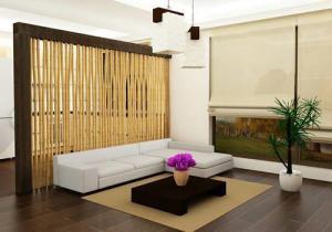 Бамбук в интерьере помещения