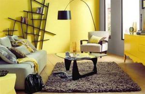 Желтый цвет в интерьере для хорошего настроения